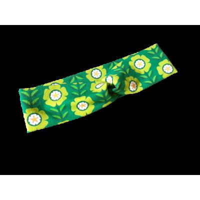 Haarband groen bloemen